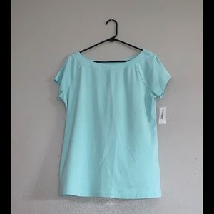 Dress Barn sz L NWT Mint Green Knit Cotton Shirt